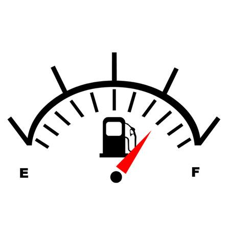 Benzin Kraftstoffanzeige Standard-Bild - 25511636