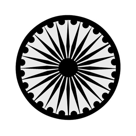 The Buddhist symbol of the Ashoka Chakra  Stock Vector - 25515236