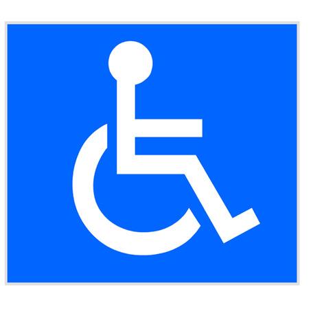 국제 휠체어 기호 일러스트