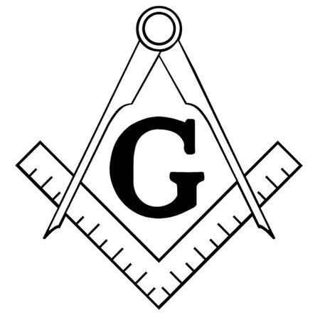 Freemasonry Square and Compasses Illustration