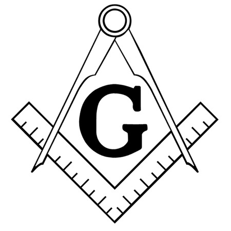 lodges: Freemasonry Square and Compasses Illustration