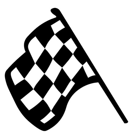 Grand Prix Flag Illustration