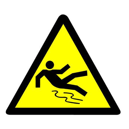 slippery floor: Slippery Warning Symbol Illustration