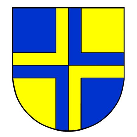 alpes suizos: Escudo de armas de Davos, el municipio suizo que es anfitri�n del Foro Econ�mico Mundial Vectores