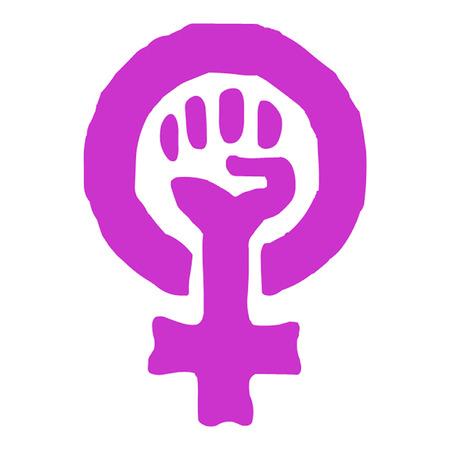 feministische: Feminisme Vrouw Symbool van de macht Stock Illustratie