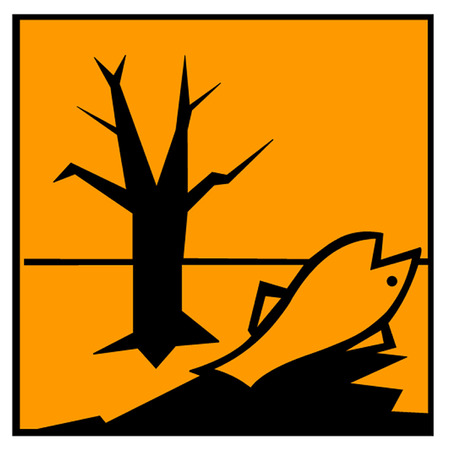 hazardous waste: Dangerous for the Environment Hazard Symbol Illustration