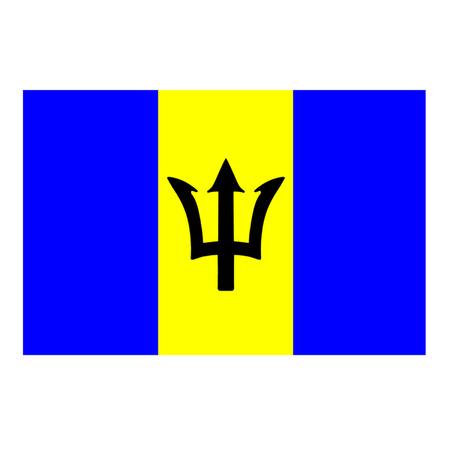 Flag of Barbados Illustration