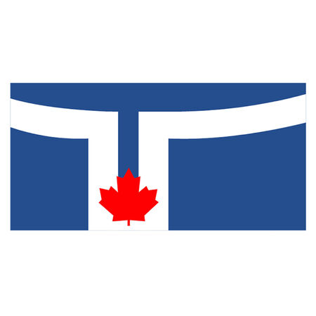 ontario: Flag of Toronto Illustration