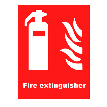 inflammable: Fire Extinguisher Symbol
