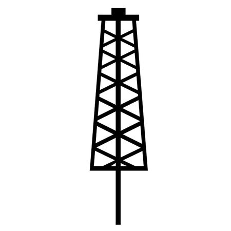 fracking: Fracking Tower Illustration
