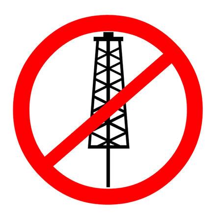 fracturing: Anti Fracking Symbol Illustration