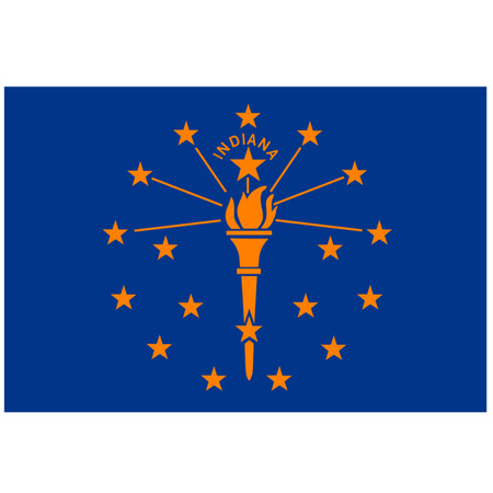 midwest: Flag of Indiana Illustration