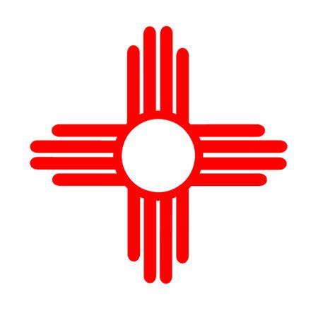 Inheemse Amerikaanse Symbool van de Zon Stock Illustratie