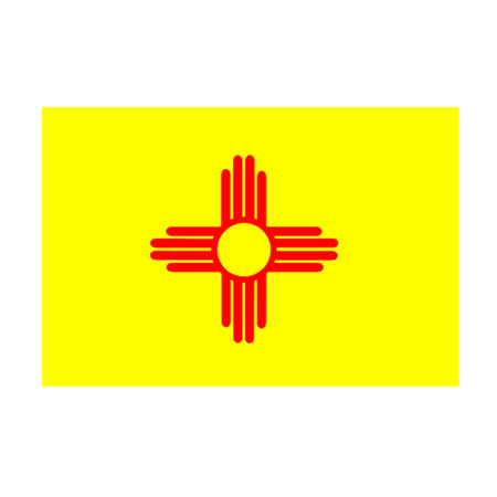 albuquerque: Flag of New Mexico Illustration