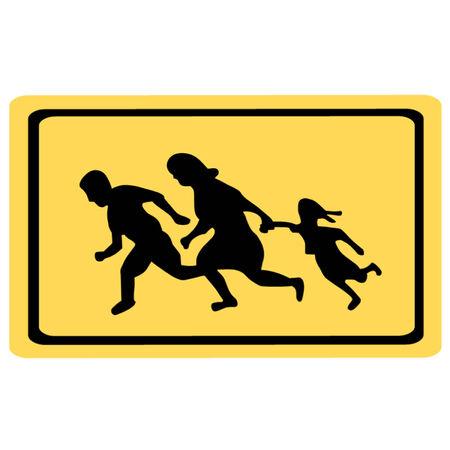 migraci�n: Correr Familia que se ejecuta Inmigrantes Entrar