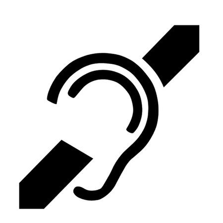 難聴の国際的なシンボル  イラスト・ベクター素材