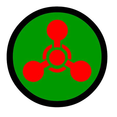 chemical warfare: Sarin Gas or Nerve Gas Symbol