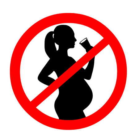Pregnant Woman Alcohol Symbol
