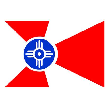 미드 타운: 위치 타 캔자스의 국기 일러스트
