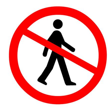 No Entry Symbol Illustration