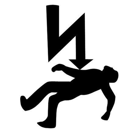 electrocuted: Danger of electrocution Symbol.