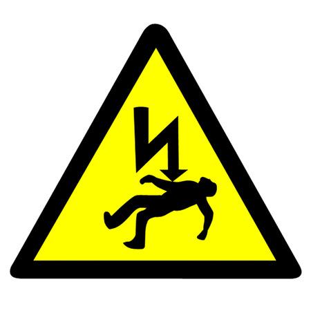 descarga electrica: Peligro de electrocución Símbolo. Vectores
