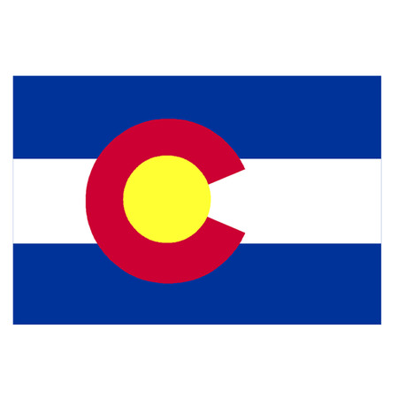 pueblo: Flag of Colorado Illustration