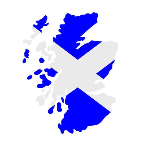 edinburgh: Karte von Schottland Illustration