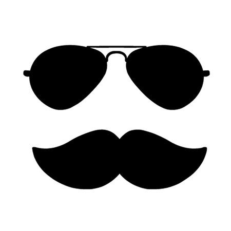 moustache: Aviator Sunglasses and Moustache Illustration