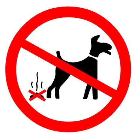 littering: No Dog Fouling Symbol