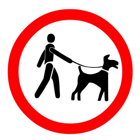 Keep Dogs on a Leash Symbol