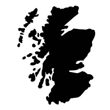 hamilton: Map of Scotland Illustration