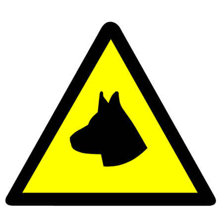 Guard Dog Symbool Stock Illustratie