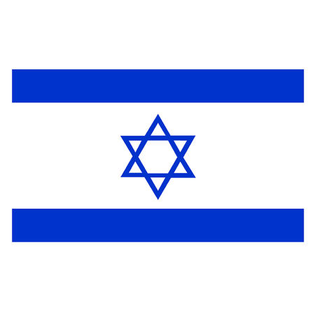 israel jerusalem: Flag of Israel Illustration