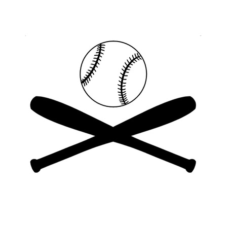 inning: Baseball bats and ball. Illustration