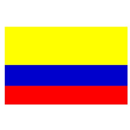 amazon rainforest: Flag of Colombia Illustration
