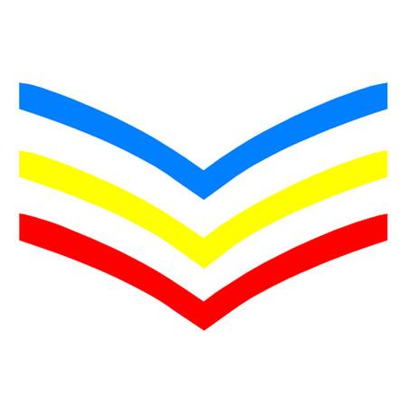 homosexuales: UK Gay Sargento Stripes Vectores