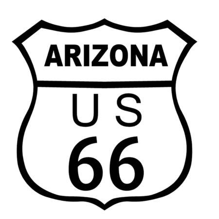 Arizona Route 66 Sign Vector
