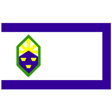 colorado mountains: Flag of Colorado Springs Illustration