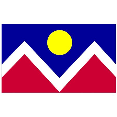 colorado mountains: Flag of Denver, Colorado.