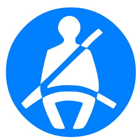 cinturon seguridad: Cinturón de seguridad Símbolo Vectores