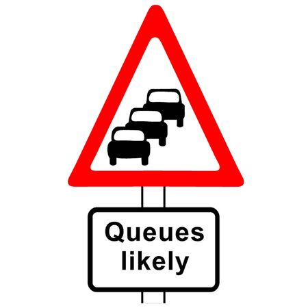 likely: Traffic Queues Likely Sign