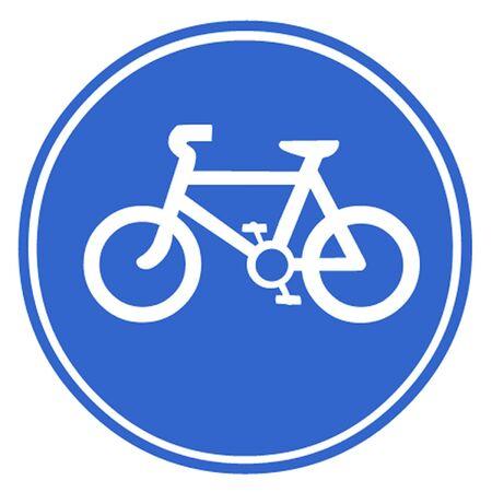 bicycle lane: Bicycle Symbol Illustration
