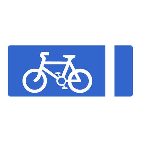 bicycle lane: Cycle Lane Symbol Illustration