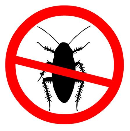 Hüten Sie sich vor Kakerlaken Symbol Standard-Bild - 43265101