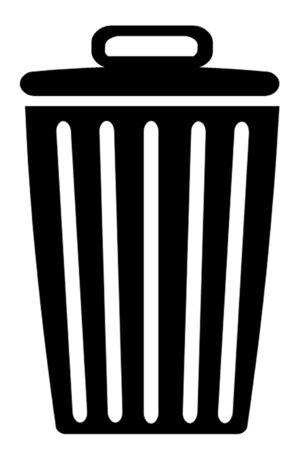 delete: Trash Can or Delete Symbol