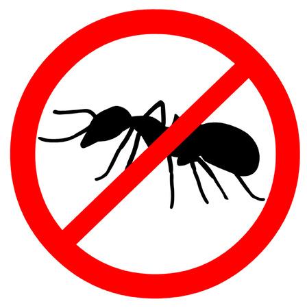insecto: Tenga cuidado con las hormigas Símbolo