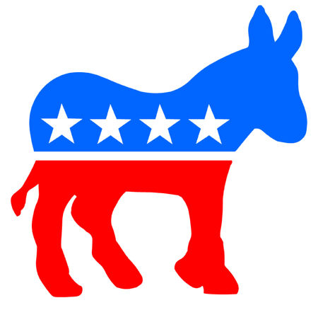 conservative: Democratic Donkey Illustration