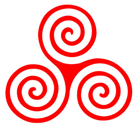 Celtic and Pre Celtic Triple Spiral Symbol