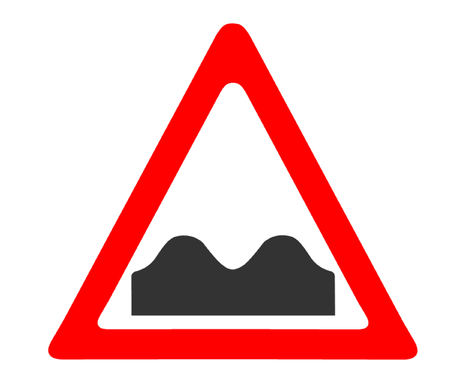 bump: Speed Bump Sign Illustration